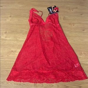 Nice or Naughty Sexy Nighty Lingerie Small RED